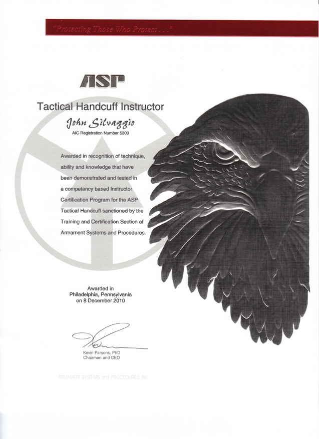 ASP Tactical Handcuff Instructor