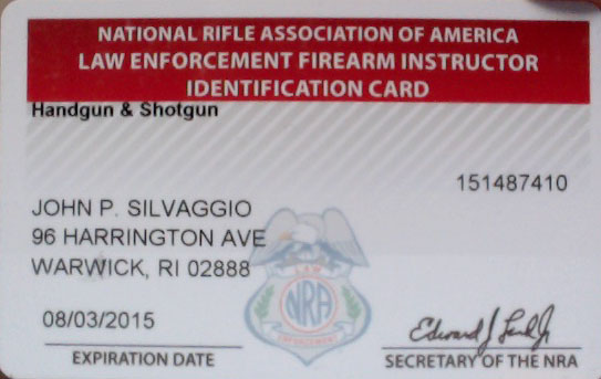 NRA Law Enforcement Handgun Shotgun Recertification