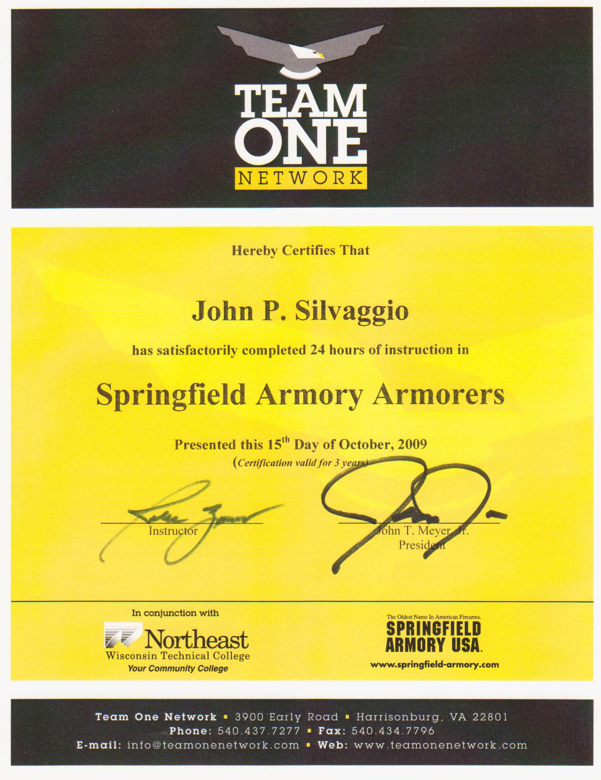 Springfield Armorer Certification