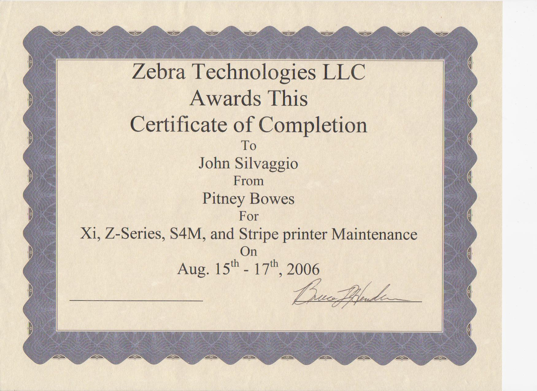 Certified Zebra Thermal Printer Technician