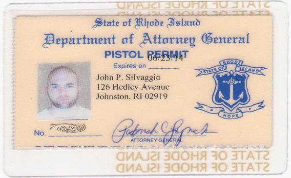 Rhode Island Pistol Permit Renewal